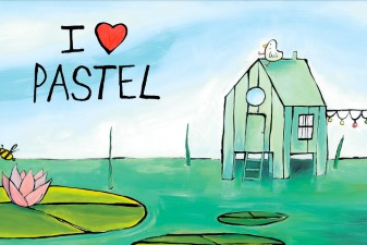 illustration I love Pastel